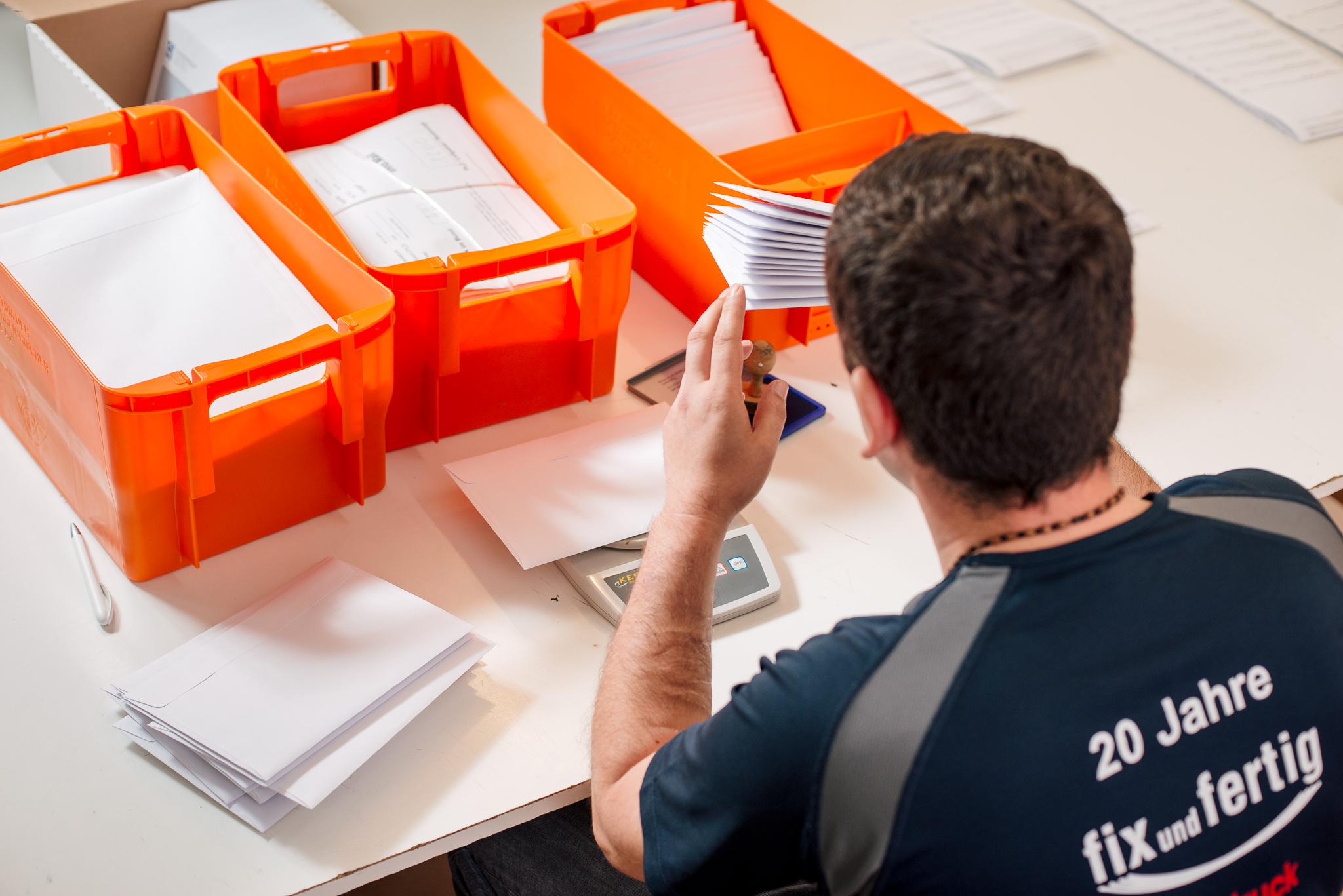 Fix und Fertig Versand Postversand Sortierung